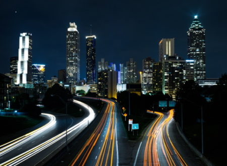 City Streets Night Timelapse symbolizing marketing attribution aka customer journey