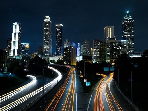 City Streets Night Timelapse symbolizing marketing attribution aka customer journey