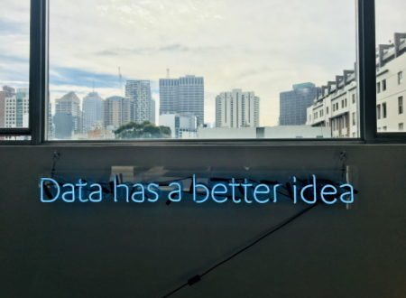 Next Best Action Marketing by neon light 'Data has a better idea'